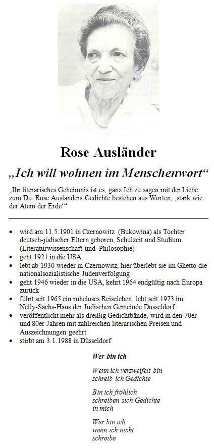 Ursula Kurze Rose Ausländer